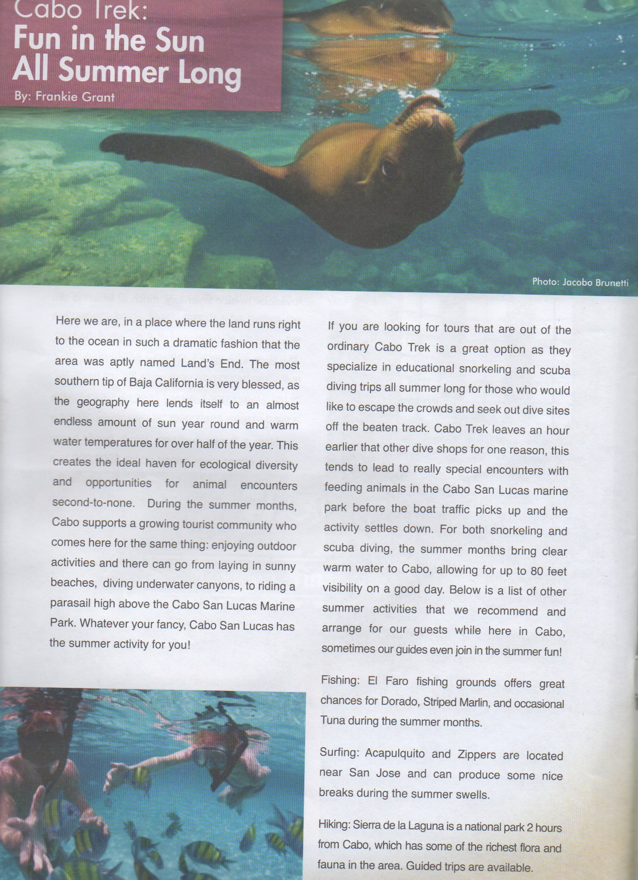 The good life Los Cabos - article 1of2